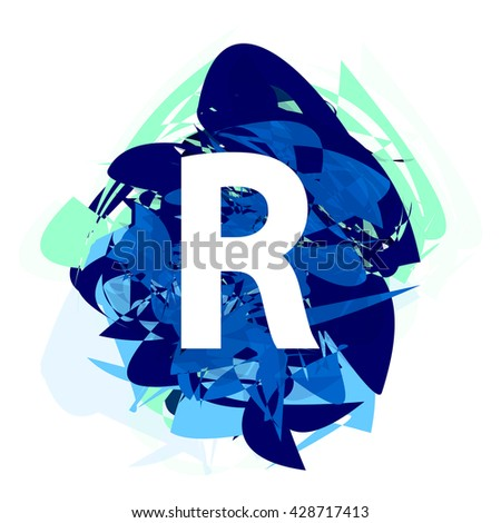 Letter r logo design template element stock vector 428717413 letter r logo design template element letter on blue abstract font style thecheapjerseys Gallery