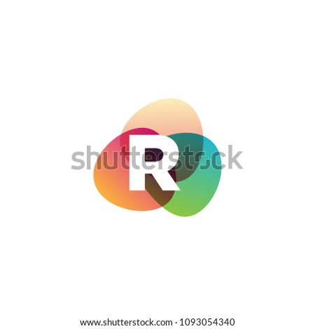 Letter R Retro Color Full Vector Stock Vector Royalty Free