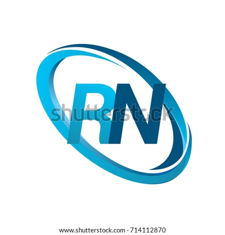 Letter Rn Logotype Design Company Name Stock Vector 714112870