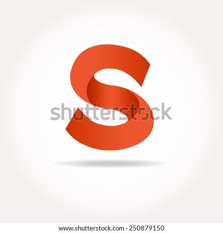 Letter S. Abstract template logo design. Vector logotype - stock vector