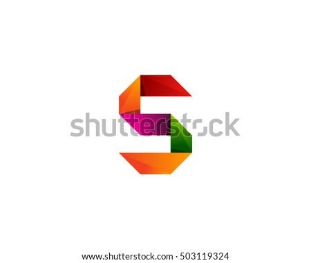 letter s ribbon color logo design stock vector 552969160 shutterstock