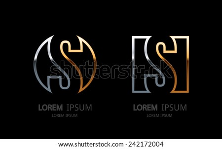 Letter S logo. Alphabet logotype vector design. - stock vector