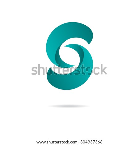letter s logo design template blue stock vector 304937366
