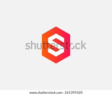 Letter S logo icon vector design - stock vector