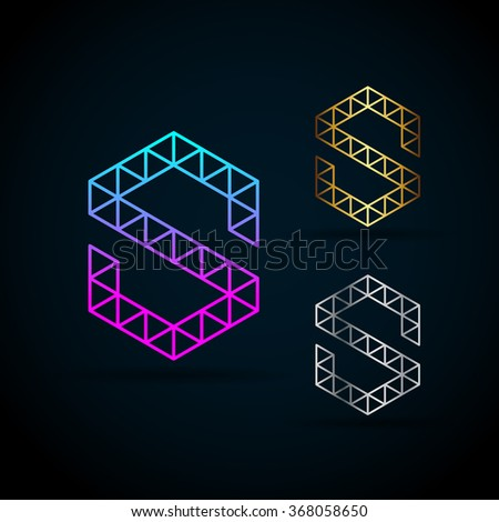 Letter s vector origami logo sample stock vector 368058650 letter s vector origami logo with sample text for your company spiritdancerdesigns Gallery