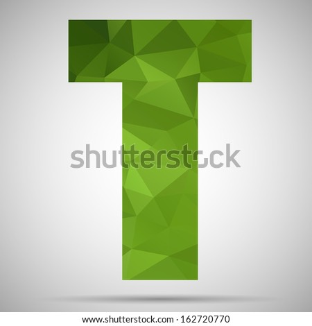 Letter T - stock vector