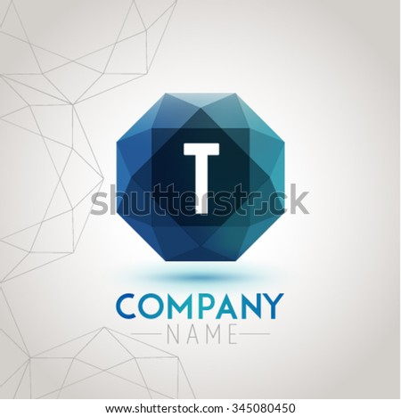 Letter T Alphabet Logo Icon Design Template Element. Vector Color Sign Easy Editable for Your Design. - stock vector
