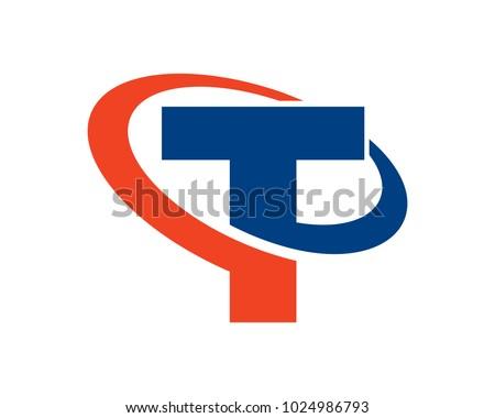 Letter T Logo Template Design Vector Emblem Concept Creative Symbol Icon