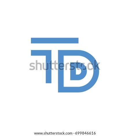 Letter Td Initial Logo Design Stock Vector 699846616 Shutterstock