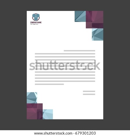 Letter templates vector format editable place stock vector 2018 letter templates vector format editable place for text with logo on 3d block spiritdancerdesigns Image collections