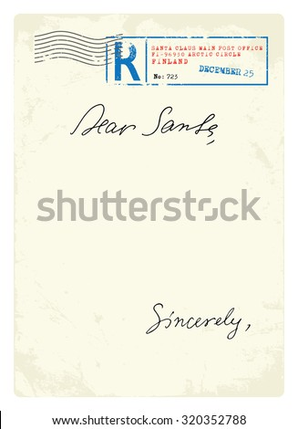 Letter to Santa - stock vector