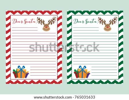 Letter santa claus vector illustration printable stock vector letter to santa claus vector illustration printable page english christmas worksheet with writing a spiritdancerdesigns
