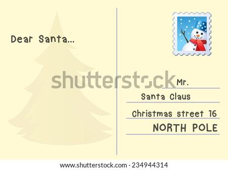 Letter to Santa. vector illustration - stock vector