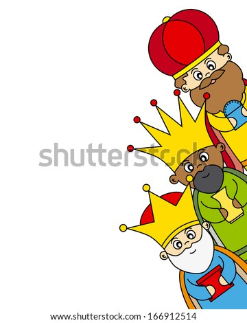 Letter to the Three Kings  - stock vector