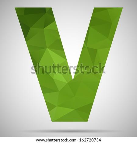 Letter V - stock vector
