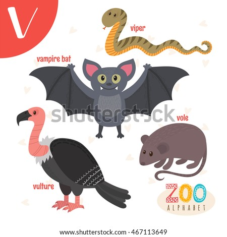 3 letter animals letter v animals stock vector 467113649 25786