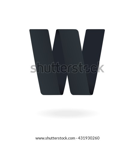 Letter W logo design template. Stylish vector icon - stock vector