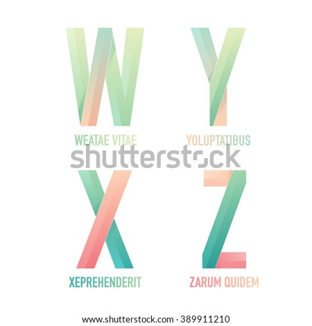 Letter w y x z logo stock vector hd royalty free 389911210 letter w y x and z logo design templates vector signs for your wajeb Image collections