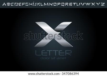 Letter X Logo, alphabet logo, vector logo, logo design, logo template. - stock vector