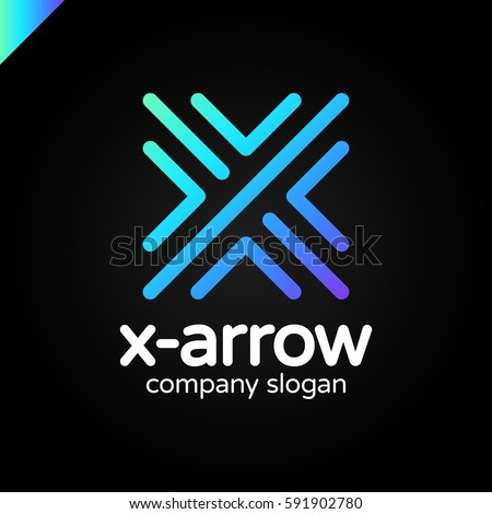 letter x logo design concept four stock vector 591902741