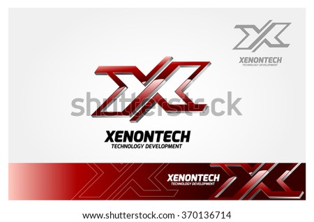 Letter X logo icon design template element, Modern styled for a technology company. - stock vector
