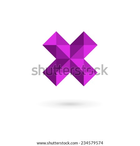 Letter X mosaic logo icon design template elements  - stock vector