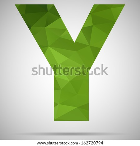Letter Y - stock vector