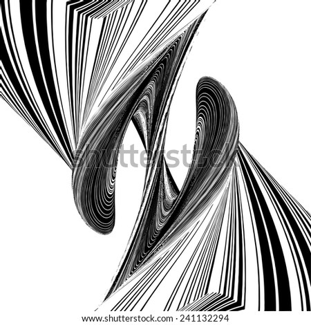 Letter Z In Geometric Twisted Shape Vector 28 - stock vector