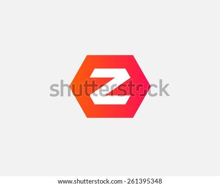 Letter Z logo icon vector design - stock vector