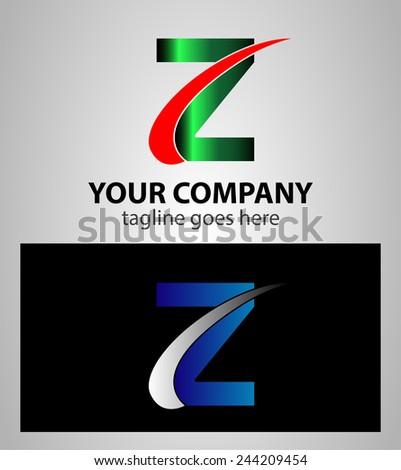 Letter Z logo symbol design template elements  - stock vector