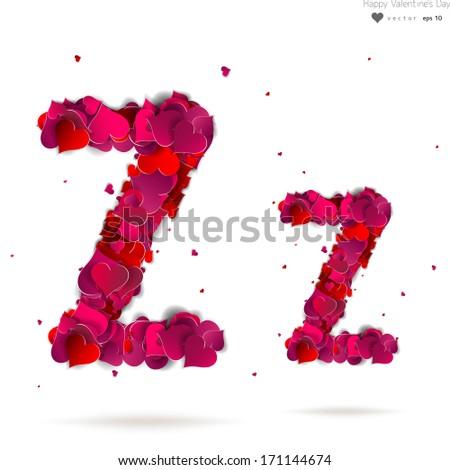 z alphabet love  Letter Z made from