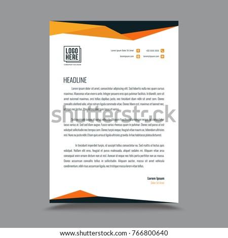 Letterhead template design stock vector royalty free 766800640 letterhead template design spiritdancerdesigns Images