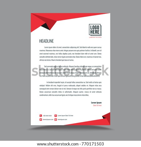 Letterhead template design stock vector royalty free 770171503 letterhead template design spiritdancerdesigns Image collections