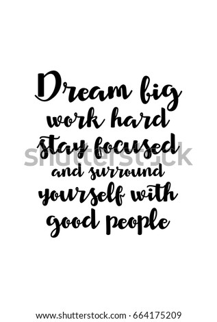 Stay Focused Quotes Delectable Lettering Quotes Motivation About Life Quote Stock Vector
