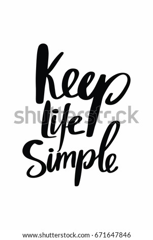 Simple Quotes Amusing Lettering Quotes Motivation About Life Quote Stock Vector