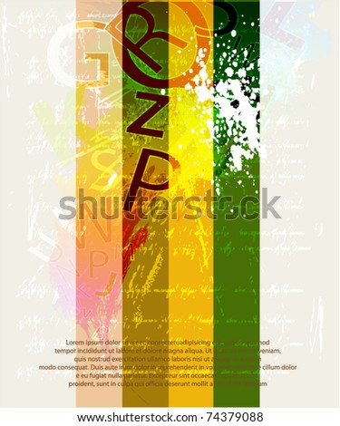 Letters background design - stock vector