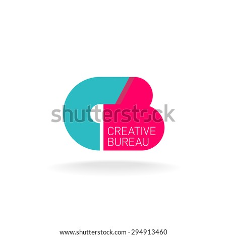 Letters C and B ligature logo template. Creative design concept. - stock vector