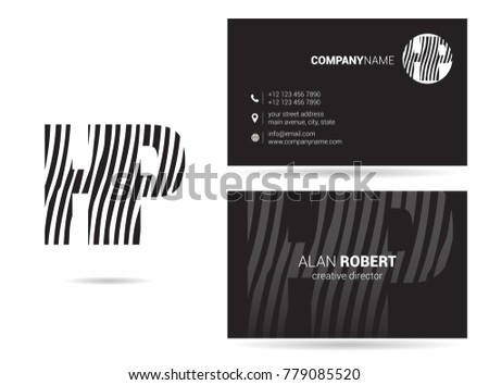 letters h p logo icon business stock vector 779085520 shutterstock