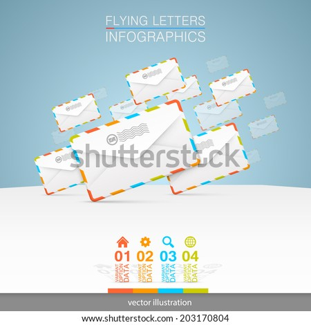 Letters on a white background. vector illustration - stock vector