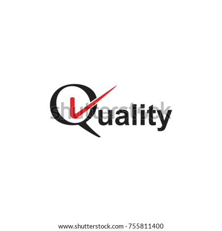 Letters Q Quality Check Symbol Logo Stock Vector 755811400