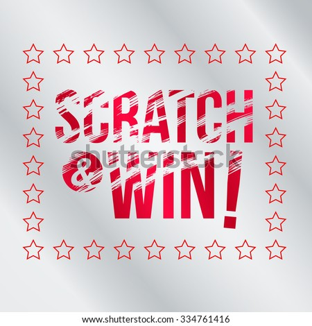 letters scratch win effect scratch marks stock vector royalty free