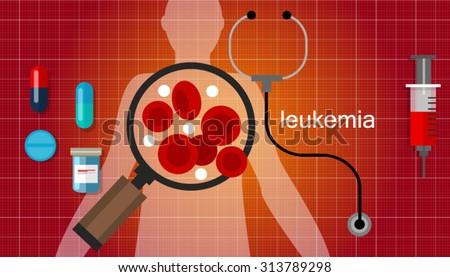 leukemia cancer blood  leukaemia disease vector - stock vector