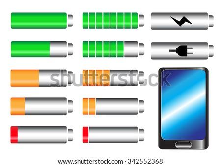 level battery vector - stock vector