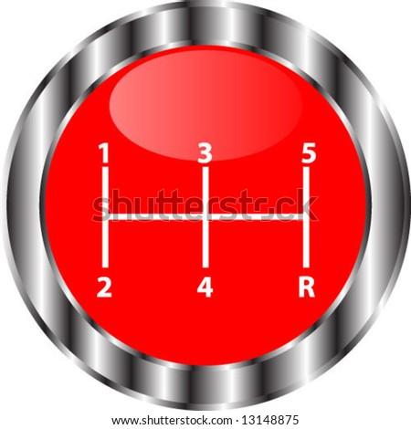 lever speed - stock vector