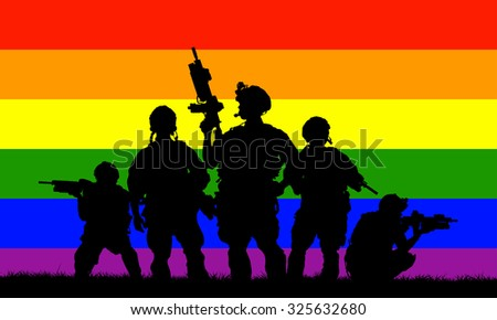 LGBT army rangers - stock vector