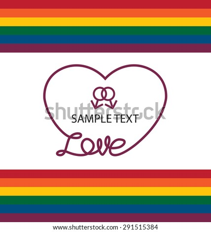 LGBT colors hearts, Symbol of gay love, Vector background. - stock vector