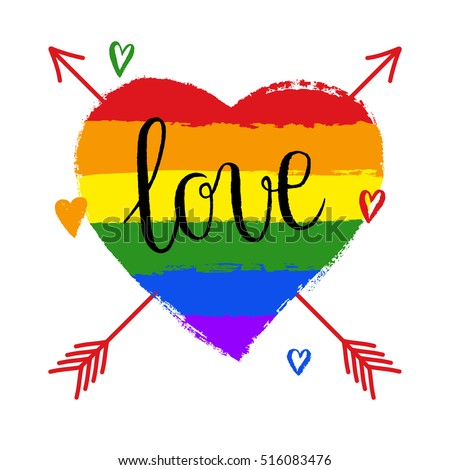 Lgbt Gay Lesbian Pride Greeting Card Vector 516083476 – Lesbian Valentines Day Cards
