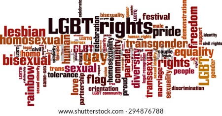 LGBT rights word cloud concept. Vector illustration - stock vector