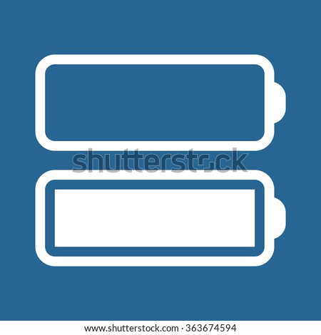 li-ion battery icon, vector illustration. Modern design. Flat design style - stock vector