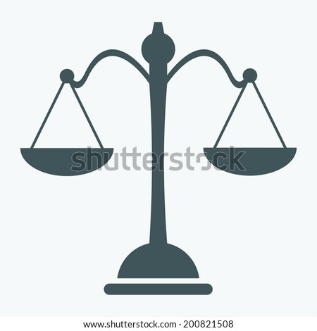 Libra icon - stock vector